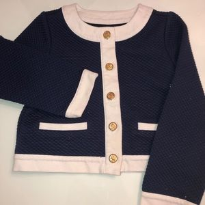 Girls cardigan with gold hardware buttons